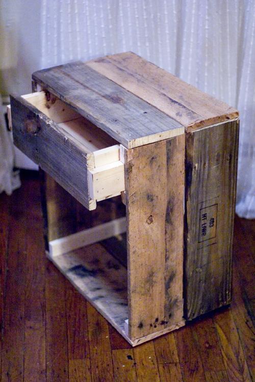 la verdad es que con cajas de madera yo madera reciclada uno puede hacer cualquier cosa hoy os enseo unas mesitas de noche simples pero bonitas