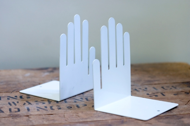 mod hand bookends